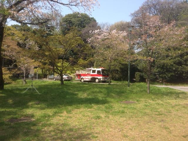 皇宮警察の消防車