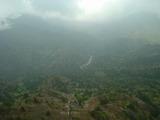 太鼓岩から屋久島の奥岳を眺める
