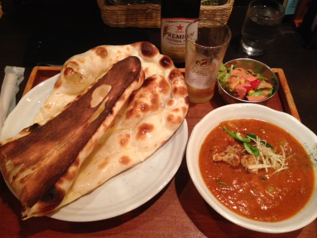 チキンマサラティッカとカリフラワーと馬鈴薯の印度カレー